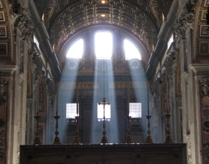 light through St. Peter's windows