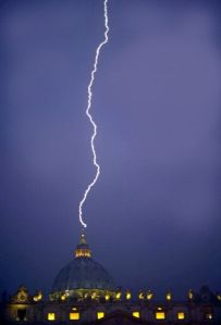 lightening striking vatican