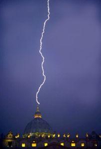 lightening striking vatican