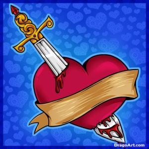sword in heart