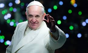 Pope Francis reaching out