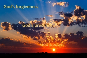 picture of the sun's rays for forgiveness, presence, power
