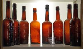 Whiskey bottles