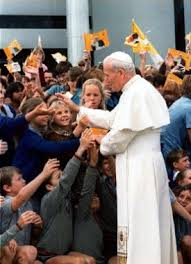 JPII with children