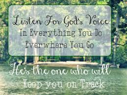 listen to God's voice