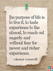 purpose Eleanore Roosevelt