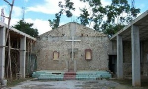 church in NDM before reconstruction
