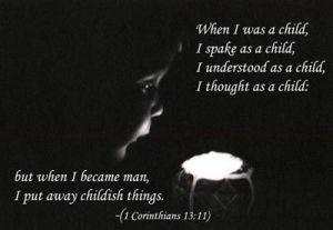 1 Corinthians 13  11