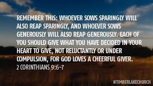 2 Corinthians 9 6-7