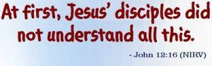 John 12 16
