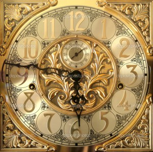 Elegant grandfather clock face