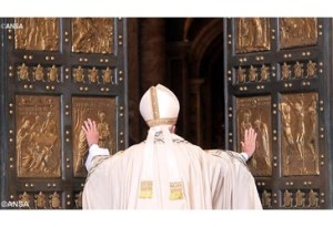 Pope Francis opening the Holy Doors