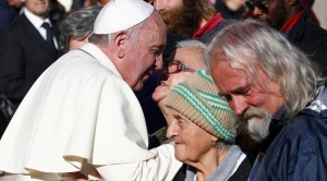 Pope Francis with the Homeless