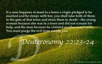 Deuteronomy 22 22 24