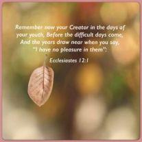 Ecclisiastes 12 1