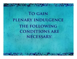 to gain a plenary indulgence