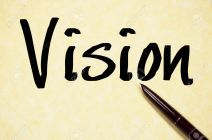 vision word write on paper
