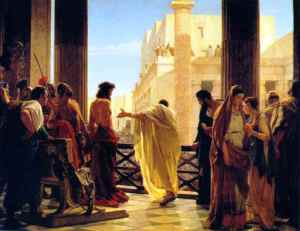 Jesus before Pilate
