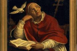 Saint Gregory the Great by Unknown Roman artist, oil on canvas, 1620-1629