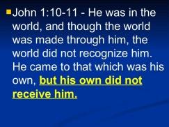 John 1 10-11