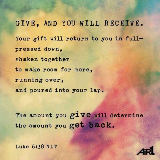 Luke 6  38