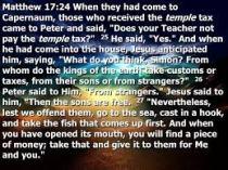 Matthew 17 24-27