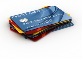 3d rendering of a credit cards