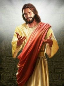 Jesus arms outstretched
